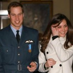 Britain's Prince William with his girlfriend Kate Middleton