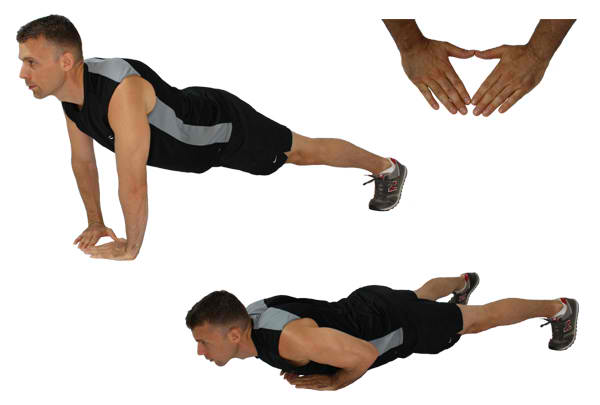 Triangle Push Up